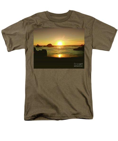 Lands End Sunset-the Golden Hour Men's T-Shirt  (Regular Fit) by Scott Cameron