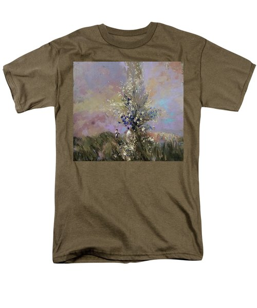 Men's T-Shirt  (Regular Fit) featuring the painting Landscape . I Was Lucky Today. by Anastasija Kraineva
