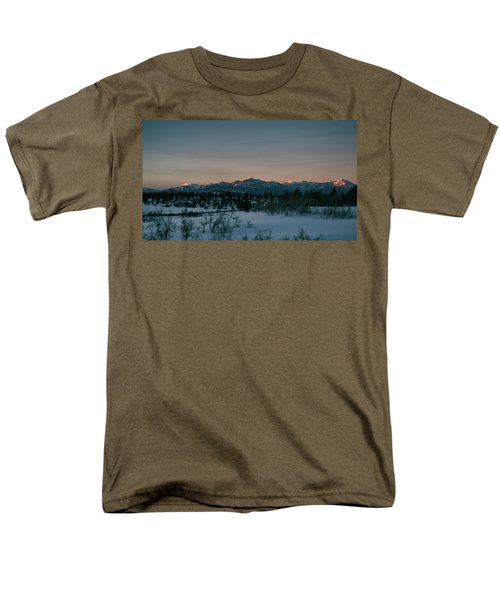Last Light On Pagosa Peak Men's T-Shirt  (Regular Fit) by Jason Coward