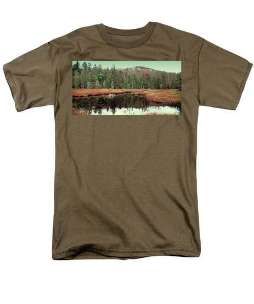Men's T-Shirt  (Regular Fit) featuring the photograph Last Of Autumn On Fly Pond by David Patterson