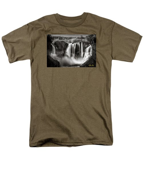 Men's T-Shirt  (Regular Fit) featuring the photograph Late Afternoon At The High Falls by Rikk Flohr