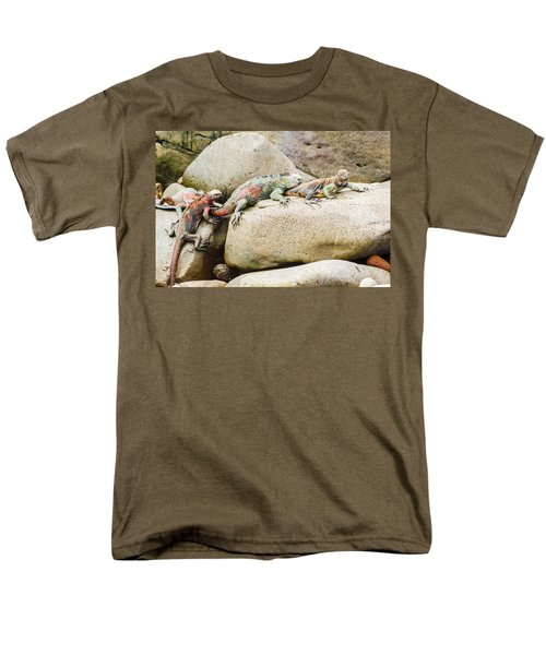 Lava Lizard On Galapagos Islands Men's T-Shirt  (Regular Fit) by Marek Poplawski