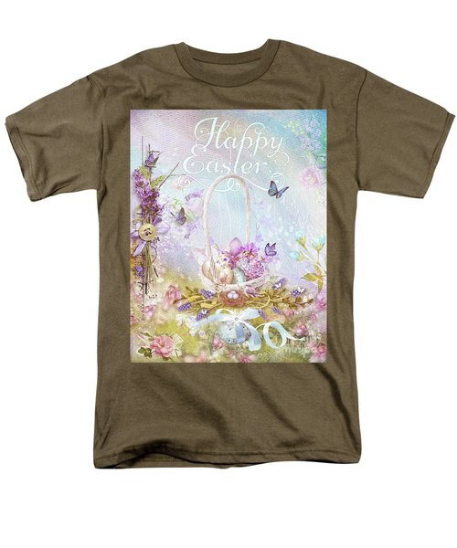 Men's T-Shirt  (Regular Fit) featuring the mixed media Lavender Easter by Mo T