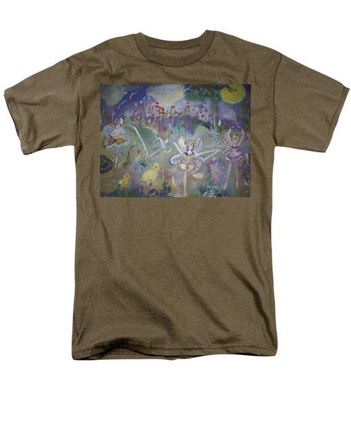 Lavender Fairies Men's T-Shirt  (Regular Fit) by Judith Desrosiers