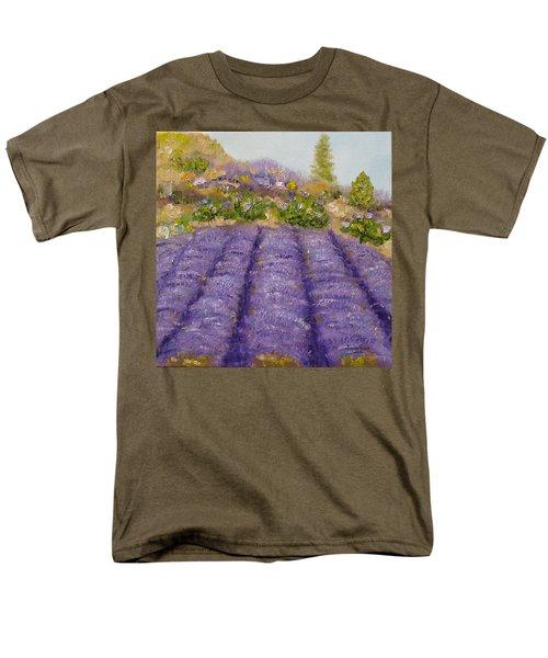 Lavender Field Men's T-Shirt  (Regular Fit) by Judith Rhue
