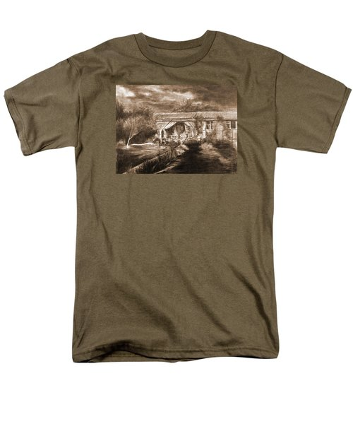 Men's T-Shirt  (Regular Fit) featuring the drawing Lawn by Mikhail Savchenko
