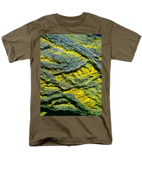 Men's T-Shirt  (Regular Fit) featuring the photograph Layers In Blue And Yellow by Lenore Senior
