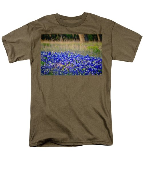 Men's T-Shirt  (Regular Fit) featuring the photograph Layers Of Blue by Linda Unger