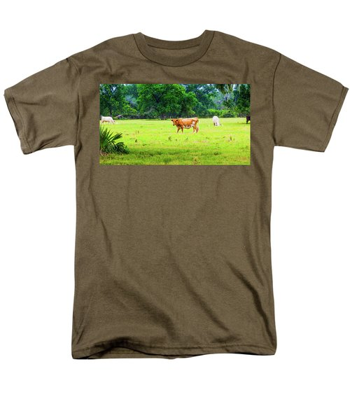 Lazy Afternoon In The Life Of A Cow Men's T-Shirt  (Regular Fit)
