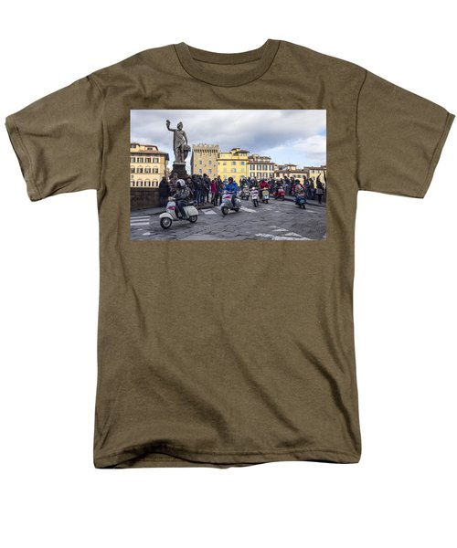Men's T-Shirt  (Regular Fit) featuring the photograph Vespe Di Firenze by Sonny Marcyan