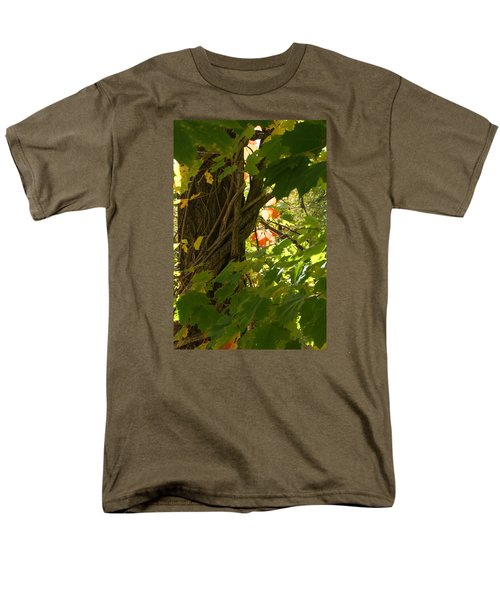 Men's T-Shirt  (Regular Fit) featuring the photograph Leaf Peeping In Red by Margie Avellino