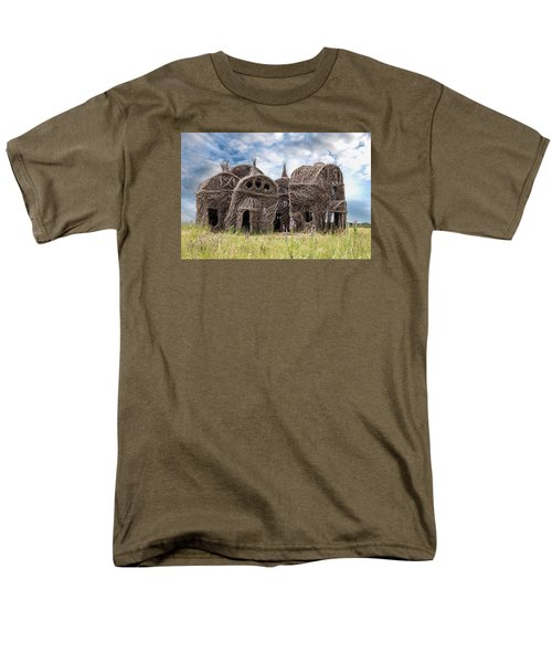 Lean On Me - Stick House Series 1/3 Men's T-Shirt  (Regular Fit) by Patti Deters