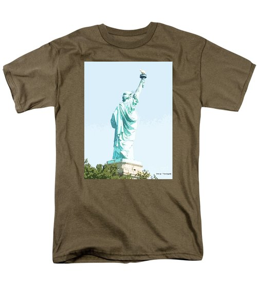 Men's T-Shirt  (Regular Fit) featuring the painting Leap Of Liberty by Denise Tomasura