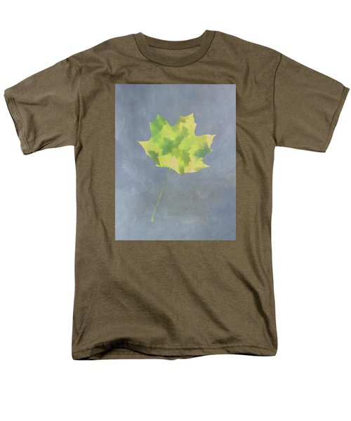 Men's T-Shirt  (Regular Fit) featuring the photograph Leaves Through Maple Leaf On Texture 4 by Gary Slawsky