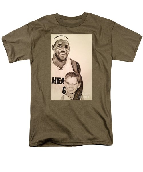Men's T-Shirt  (Regular Fit) featuring the painting Lebron And Carter by Tamir Barkan
