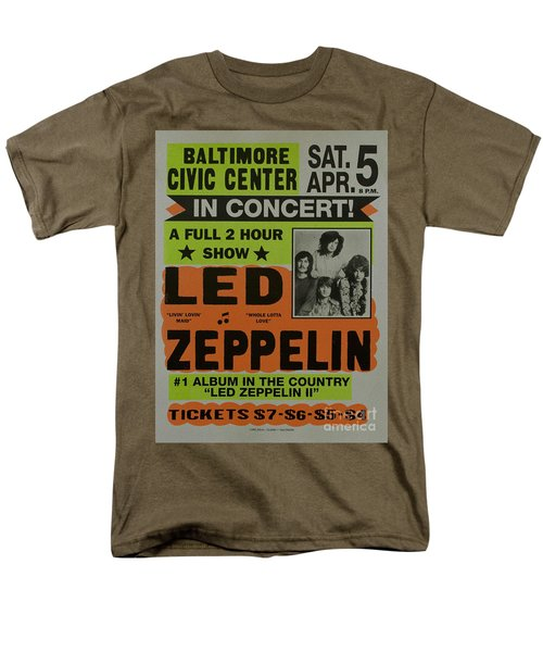 Led Zeppelin Live In Concert At The Baltimore Civic Center Poster Men's T-Shirt  (Regular Fit)