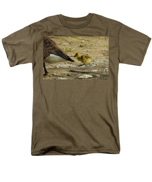 Men's T-Shirt  (Regular Fit) featuring the photograph Left     Right    Left by Betty-Anne McDonald