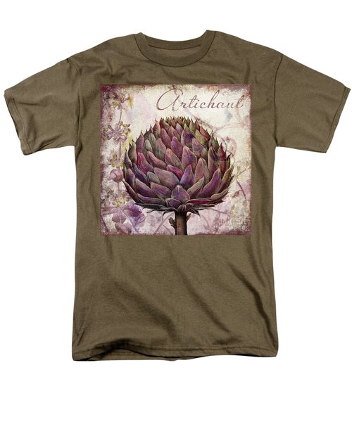 Legumes Francais Artichoke Men's T-Shirt  (Regular Fit) by Mindy Sommers