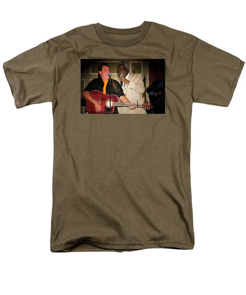 Men's T-Shirt  (Regular Fit) featuring the photograph Leon Everette And Bill Pinkney by Bob Pardue
