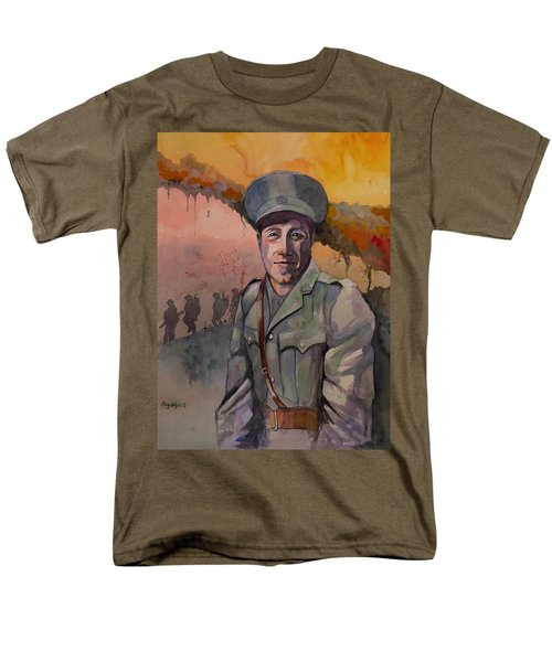 Men's T-Shirt  (Regular Fit) featuring the painting Leonard Keysor Vc by Ray Agius