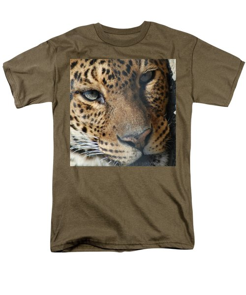 Men's T-Shirt  (Regular Fit) featuring the photograph Leopard Face by Richard Bryce and Family