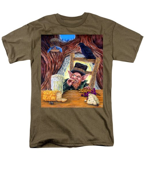 Leprechaun's Lair Men's T-Shirt  (Regular Fit) by Heather Calderon