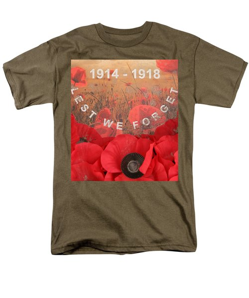 Lest We Forget - 1914-1918 Men's T-Shirt  (Regular Fit) by Travel Pics