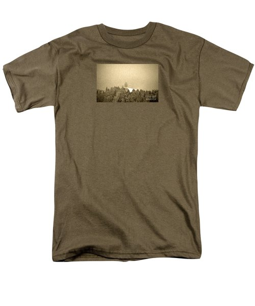 Men's T-Shirt  (Regular Fit) featuring the photograph Let It Snow - Winter In Switzerland by Susanne Van Hulst