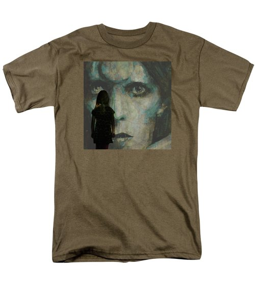 Men's T-Shirt  (Regular Fit) featuring the painting Let The Children Lose It Let The Children Use It Let All The Children Boogie by Paul Lovering