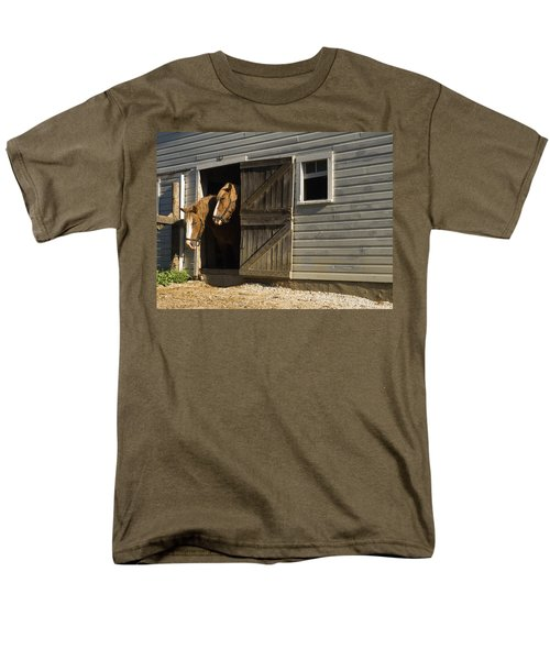Let's Go Out Men's T-Shirt  (Regular Fit) by Sally Weigand