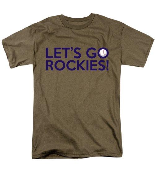 Let's Go Rockies Men's T-Shirt  (Regular Fit) by Florian Rodarte