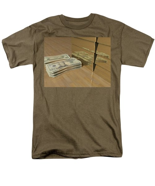 Level One Money Manifestation  Men's T-Shirt  (Regular Fit) by James Barnes