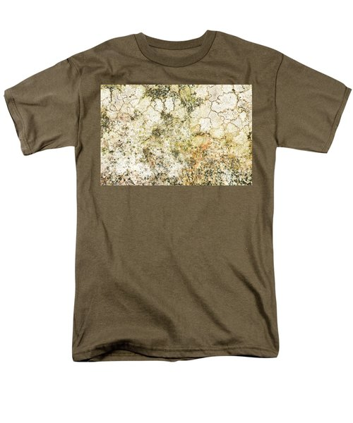 Men's T-Shirt  (Regular Fit) featuring the photograph Lichen On A Stone, Background by Torbjorn Swenelius