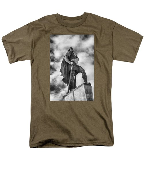 Men's T-Shirt  (Regular Fit) featuring the photograph Lief Ericsson Reykjavik by Rick Bragan