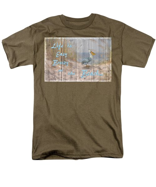 Men's T-Shirt  (Regular Fit) featuring the digital art Life Is Easy Breezy At The Beach by Nina Bradica