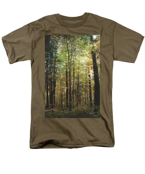 Men's T-Shirt  (Regular Fit) featuring the photograph Light Among The Trees Vertical by Felipe Adan Lerma