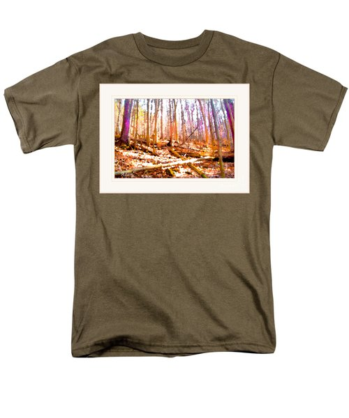 Men's T-Shirt  (Regular Fit) featuring the photograph Light Between The Trees by Felipe Adan Lerma