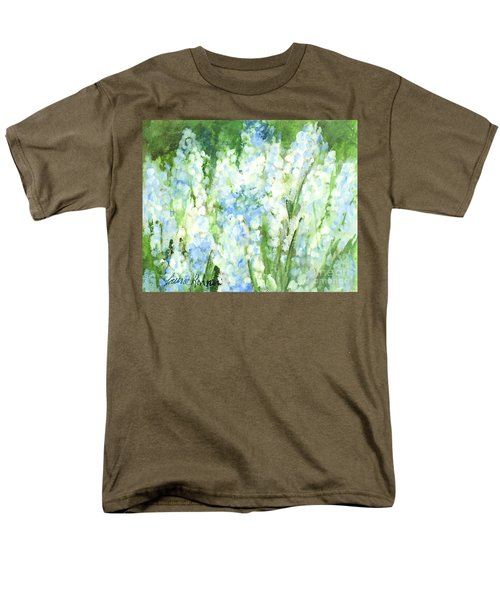 Light Blue Grape Hyacinth. Men's T-Shirt  (Regular Fit) by Laurie Rohner