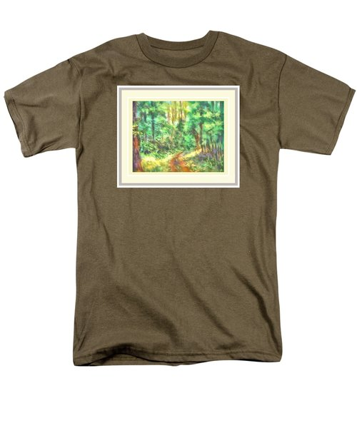 Light On The Path Men's T-Shirt  (Regular Fit) by Shirley Moravec