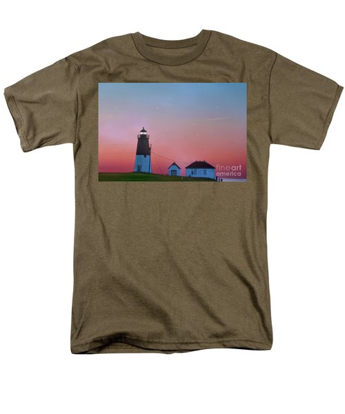 Men's T-Shirt  (Regular Fit) featuring the photograph  Lighthouse At Sunrise by Juli Scalzi