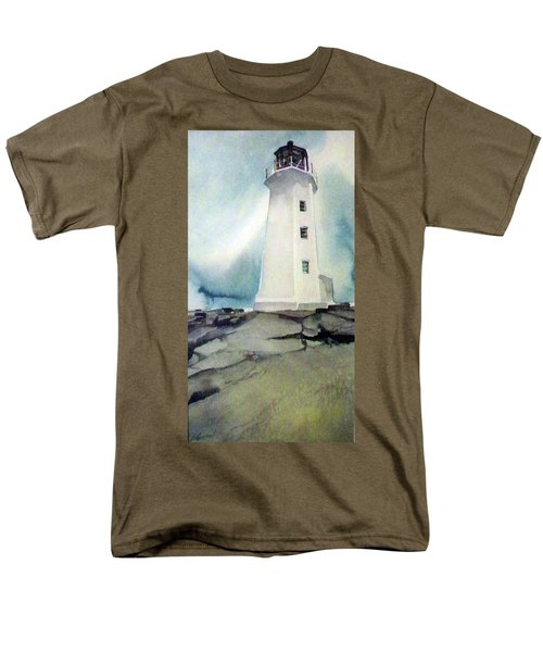 Lighthouse Rock Men's T-Shirt  (Regular Fit) by Ed Heaton