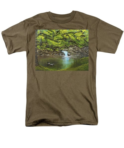 Like Ducks On Water Men's T-Shirt  (Regular Fit) by Angela Stout