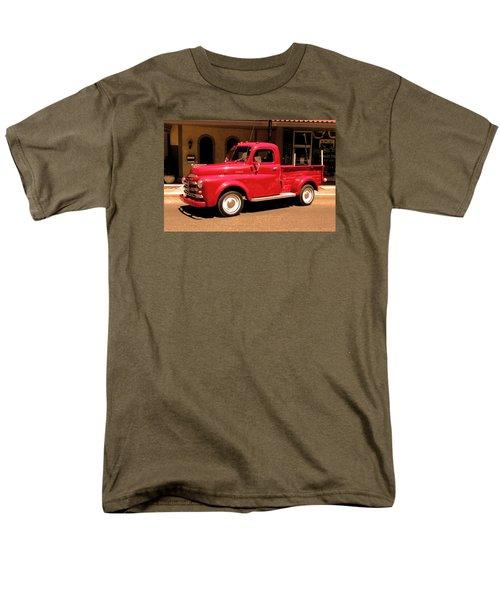 Lil Red Truck On A Dusty Street Men's T-Shirt  (Regular Fit) by Spyder Webb