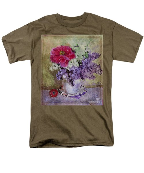 Men's T-Shirt  (Regular Fit) featuring the digital art Lilac Bouquet by Alexis Rotella