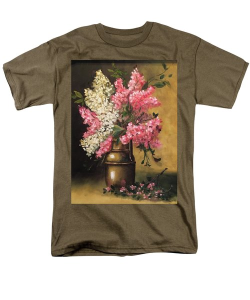 Lilacs Men's T-Shirt  (Regular Fit) by Sharon Schultz