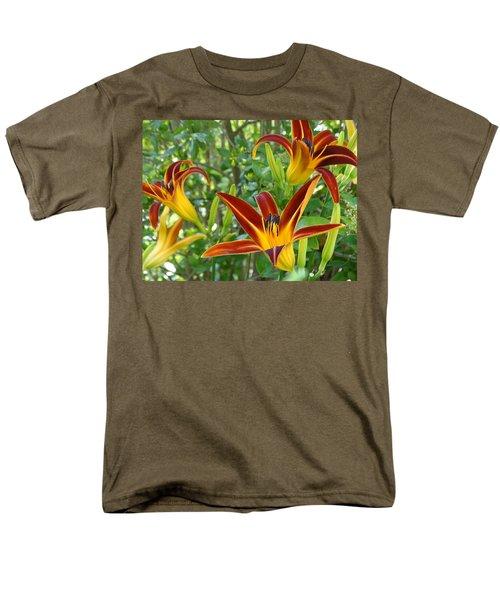 Lilies Sunrise Men's T-Shirt  (Regular Fit) by Rebecca Overton