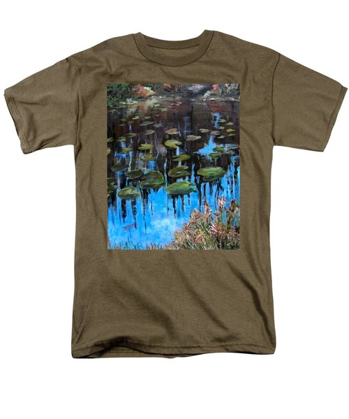 Lilly Pads And Reflections Men's T-Shirt  (Regular Fit) by Barbara O'Toole