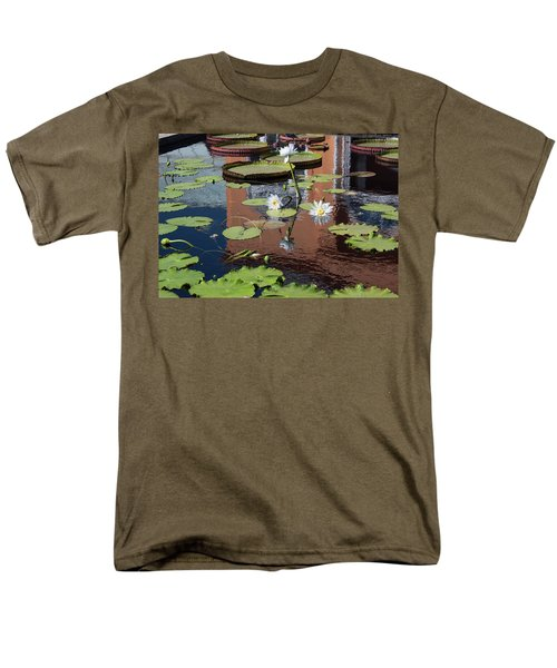 Men's T-Shirt  (Regular Fit) featuring the photograph Lily Pond Reflections by Suzanne Gaff