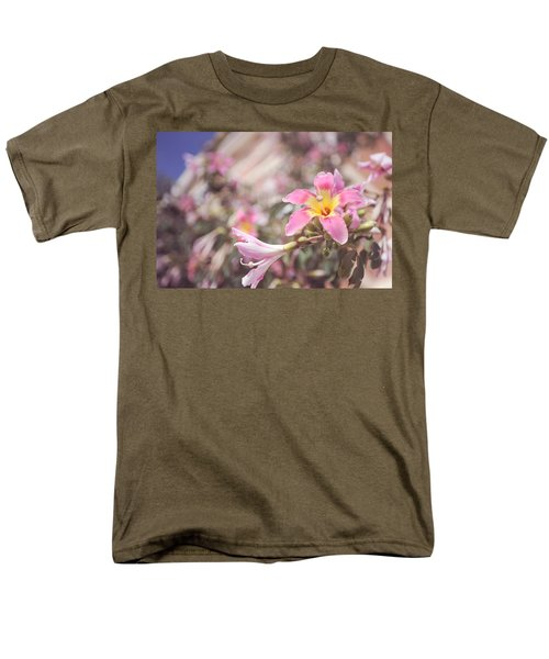 Men's T-Shirt  (Regular Fit) featuring the photograph Lily Tree. Flowers Of Malaga by Jenny Rainbow