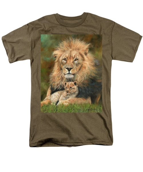 Lion And Cub Men's T-Shirt  (Regular Fit) by David Stribbling